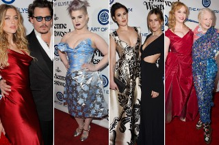 Johnny Depp and Amber Heard Join Sexy Stars at Art of Elysium Gala