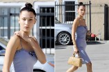 Bella Hadid Was Breathtaking in Blue While Heading to a Photoshoot