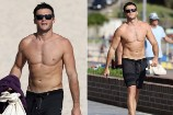 Shirtless Scott Eastwood Strutted Around Australia