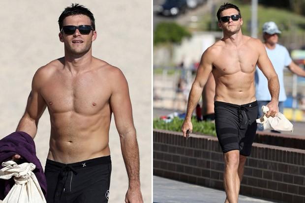 Shirtless Scott Eastwood Struts Around Australia