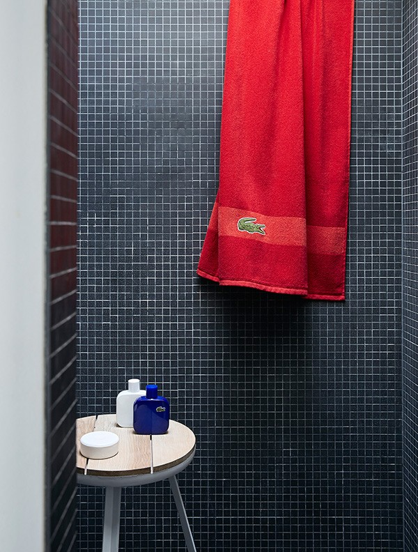Lacoste Home Signature Logo Bath Towel