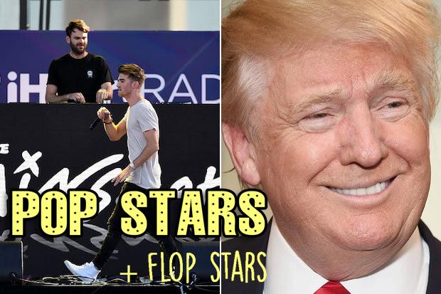 Pop-Stars-Chainsmokers-Donald-Trump