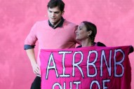 Here's How Ashton Kutcher Dealt with a Protester Who Interrupted His Speech