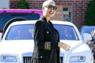 Amber Rose's Brand New Rolls-Royce Got Rear-Ended in Hollywood