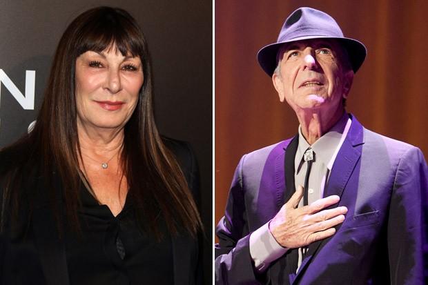 Anjelica Huston Leonard Cohen