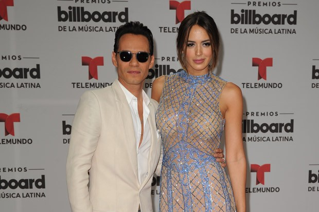 Marc Anthony and Shannon De Lima at the Billboard Latin Music Awards