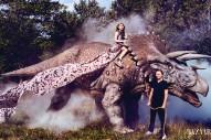 Chloë Grace Moretz Rides a Giant Dinosaur in New Harper's Bazaar Spread
