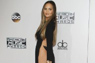 Chrissy Teigen Hilariously Clapped Back at Haters Still Complaining About Her AMAs Dress With the Sky-High Slit
