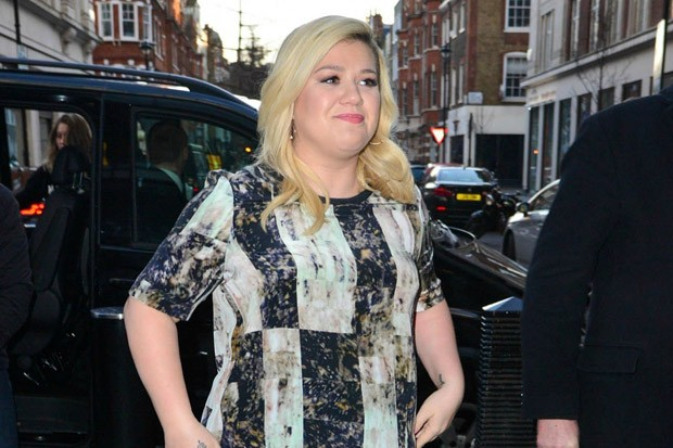 Kelly Clarkson Visits BBC Radio One Studios