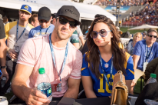 Demi Lovato and Rumored Boyfriend Luke Rockhold Cozy Up at Los Angeles Rams Game
