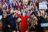 Lady Gaga, Bon Jovi, Bruce Springsteen Join Hillary Clinton on Final Day of Her Campaign