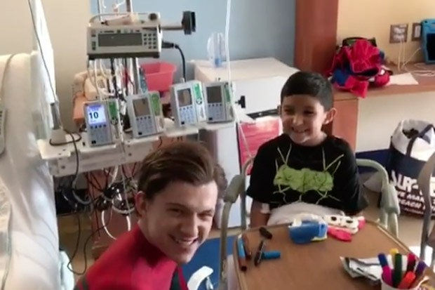 Spider-Man Visits Kids in the Hospital
