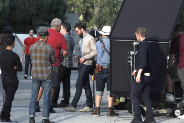 Jamie Dornan on the set of 'Untogether'