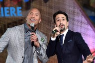 Dwayne Johnson and Lin-Manuel Miranda Are (Kinda) Making a Musical Together