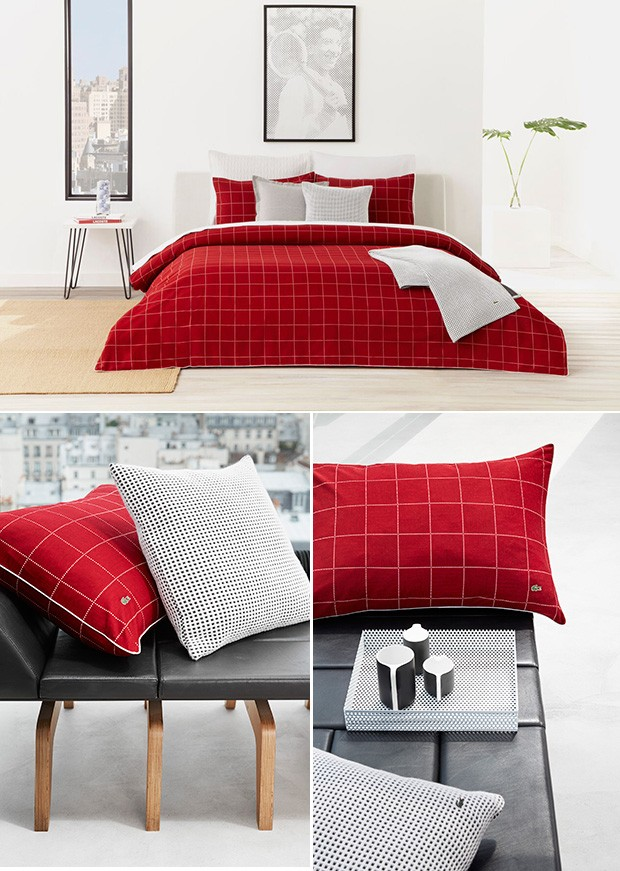 Beautiful The Lacoste Leste Red Bedding Collection