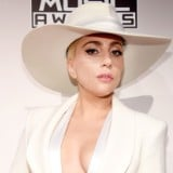 Lady Gaga Dazzles in All White at the AMAs