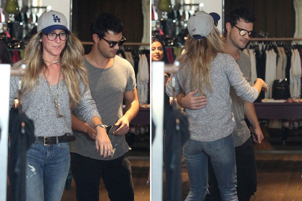 Taylor Lautner Goes Shopping with Mystery Girl