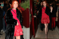 Lindsay Lohan and Her Red Hair Step Out for a Night of Partying in London