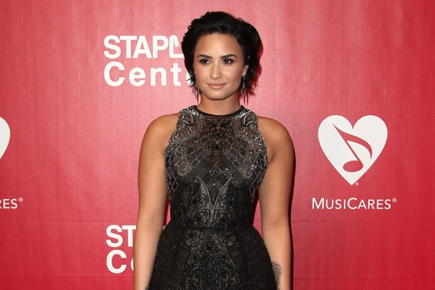 Demi Lovato at the MusiCares Person of the Year Event