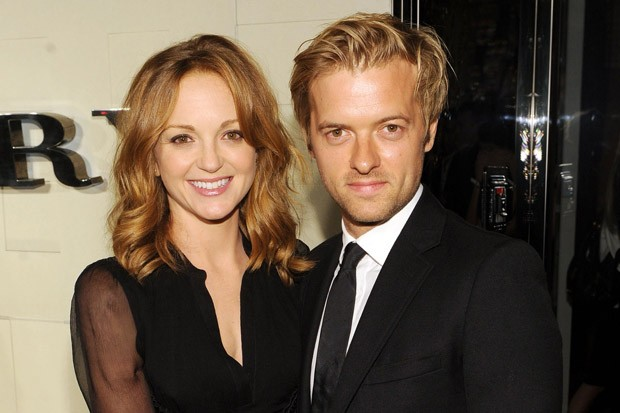 Jayma Mays and Adam Campbell at a Burberry Body Event