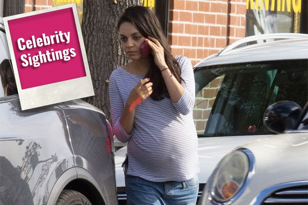 Mila Kunis and Her Big Baby Bump Leads Today's Star Sightings