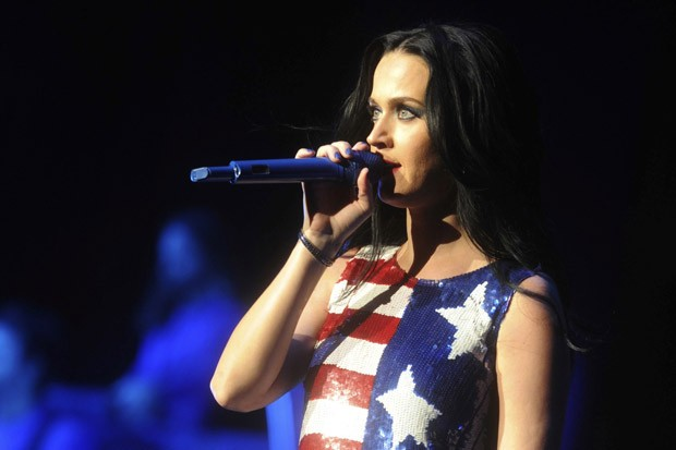 Katy Perry Performs at a Hillary Clinton Rally