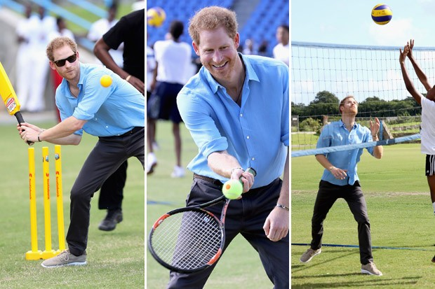 Prince Harry Played All the Sports While Visiting the Caribbean