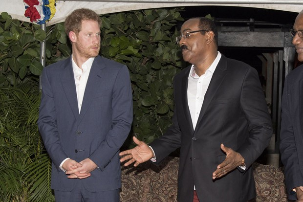 Prince Harry Greets Locals During His Tour of the Caribbean