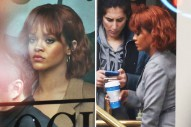 Rihanna Arrives on the Set of 'Bates Motel'