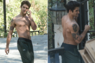 Please Enjoy These Shirtless Photos of Tyler Posey Cleaning Out His Garage