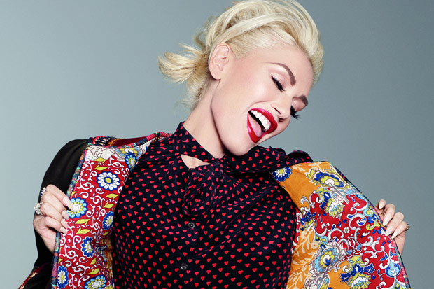 Gwen Stefani Poses for 'Glamour'
