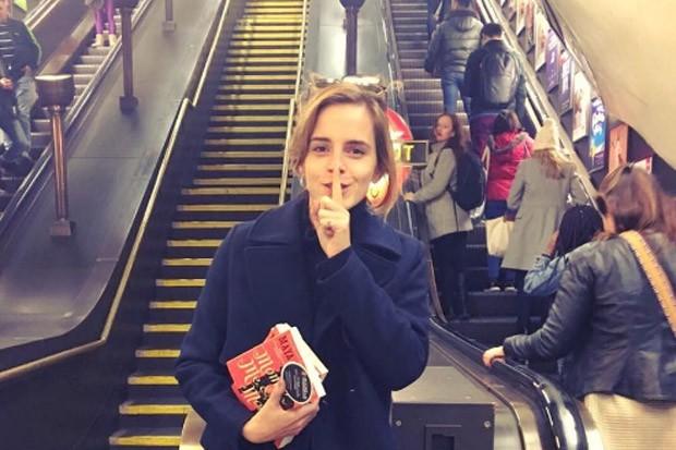 Emma Watson Distributes Books