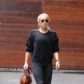 AG_161845 - *EXCLUSIVE* ** RESTRICTIONS: ONLY UNITED STATES **  -   Pacific Palisades, CA - Singer, Lady Gaga, leaving Bradley Copper after paying him a visit at his Pacific Palisades home.  She was seen carrying a football shaped constructed bag wearing a black sweater, black jeans, and black suede boots. *SHOT ON 01/09/17*    AKM-GSI 10 JANUARY 2017  To License These Photos, Please Contact :   Maria Buda  (917) 242-1505  mbuda@akmgsi.com  or    Mark Satter  (317) 691-9592  msatter@akmgsi.com  sales@akmgsi.com