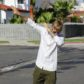 AG_162122 -  - *EXCLUSIVE* Toluca Lake, CA - Justin Bieber starts his day by greeting photographers on his block before going about his day. The singer walked outside listening to music and smiling for the cameras as he dabbed.    AKM-GSI 11 JANUARY 2017  BYLINE MUST READ: Vasquez-Max Lopes / AKM-GSI  To License These Photos, Please Contact :   Maria Buda  (917) 242-1505  mbuda@akmgsi.com  or    Mark Satter  (317) 691-9592  msatter@akmgsi.com  sales@akmgsi.com