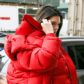 kendall jenner red puffy jacket