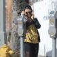 AG_163574 -  - *EXCLUSIVE* Sherman Oaks, CA - Kourtney Kardashian hides her face as she heads to a Sev Laser Hair removal. Kourtney looks casual but trendy in sunglasses, a black jacket, a yellow hoodie, sheer leggings, and black and yellow sneakers.  AKM-GSI 19 JANUARY 2017  To License These Photos, Please Contact :   Maria Buda  (917) 242-1505  mbuda@akmgsi.com  or    Mark Satter  (317) 691-9592  msatter@akmgsi.com  sales@akmgsi.com