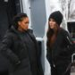 AG_164706 -  - New York, NY - Rihanna, Sandra Bullock, Sarah Paulson and Awkwafina film a diamond exchange scene in Central Park in the rain. The actresses looked focused as they shot the scene together. They all wore head to toe black for the shoot.  AKM-GSI 24 JANUARY 2017  BYLINE MUST READ: BlayzenPhotos / AKM-GSI  To License These Photos, Please Contact :   Maria Buda  (917) 242-1505  mbuda@akmgsi.com  or    Mark Satter  (317) 691-9592  msatter@akmgsi.com  sales@akmgsi.com