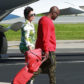52295070 Reality stars Kim Kardashian, Kourtney Kardashian and Khloe Kardashian along with Kim's and Kourtney's children board a private jet to head out of town in Van Nuys, California on January 26, 2017. The family members were joined by Kris Jenner, her boyfriend Corey Gamble, Kylie Jenner, Tyga and his son King Cairo Stevenson. Kylie could be seen carrying for King Cairo as if he was her son. FameFlynet, Inc - Beverly Hills, CA, USA - +1 (310) 505-9876