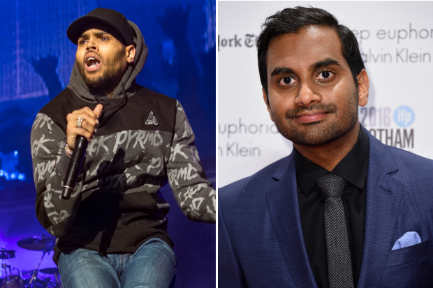 Chris Brown Aziz Ansari feud snl