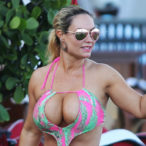 Coco Almost Busts Out of Her Skimpy Swimsuit
