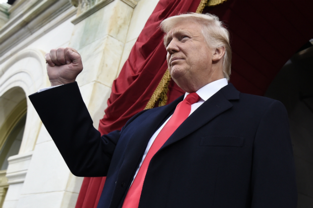 donald trump inauguration day fist pump