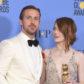 emma stone ryan gosling la la land golden globes 2017
