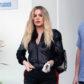 khloe kardashian black track suit