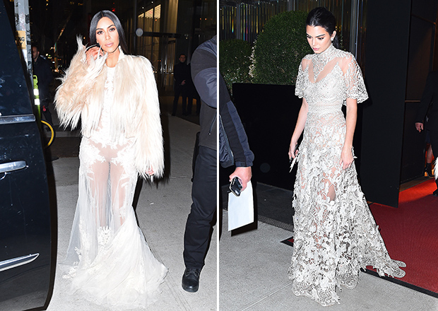 Kim Kardashian and Kendall Jenner are ready for their close ups