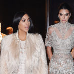 Kim Kardashian and Kendall Jenner Film 'Ocean's Eight' Cameo in Breathtaking Gowns