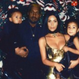Kim Kardashian and Kanye West Take Their Kids to Visit Donda West's Grave