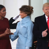The Face Michelle Obama Made When Melania Trump Gave Her a Parting Gift Was EVERYTHING