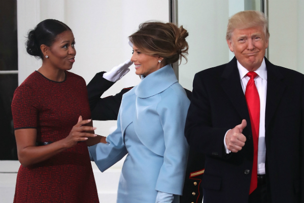 michelle obama melania donald trump face meme inauguration day