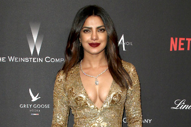 priyanka chopra golden globes dress