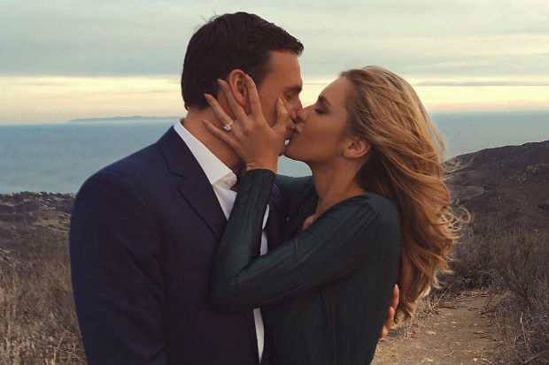 ryan lochte kayla rae reid engagement ring proposal kiss